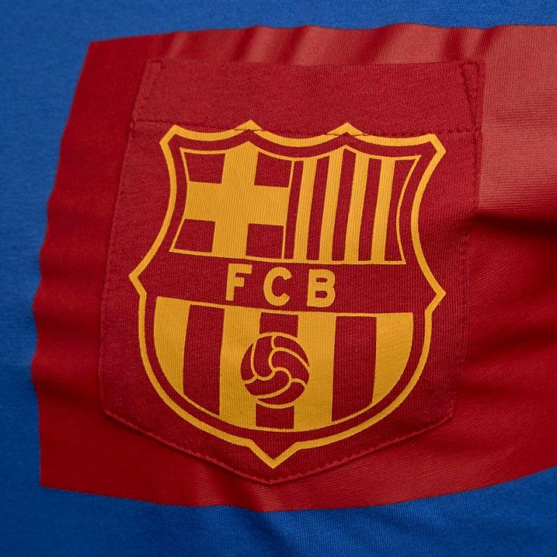 """Nike FC Barcelona Crest Tee """"blue"""" + darček z nášho obchodu grátis!"""
