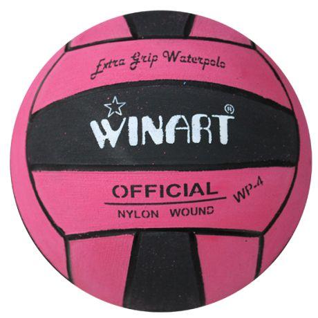 Winart Water polo ball ružová-čierna-ružová