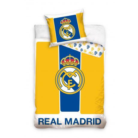Posteľné obliečky Real Madrid YELLOW/BLUE (ffzz) + vak na prezúvky grátis!