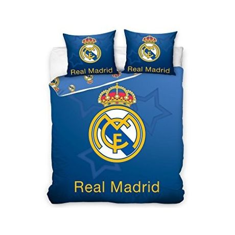 4e05e74ad Posteľné obliečky Real Madrid BLUE - DUO(ffzz) + vak na prezúvky grátis!