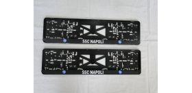 Podložka pod ŠPZ SSC Napoli - sada 2 ks