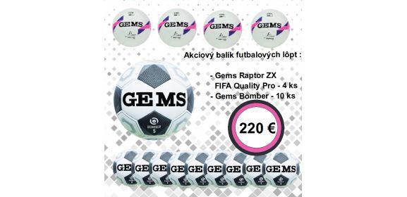 Akciový balík futbalových lôpt Gems