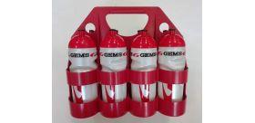Set nosič + fľaše Gems