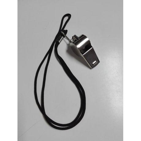 Píštalka kovová PVX so šnúrkou