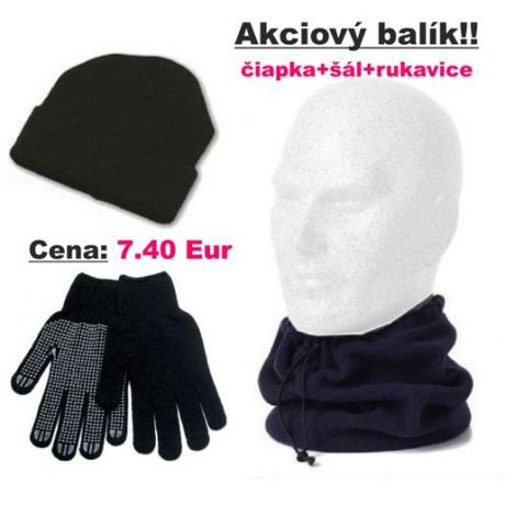 "Akciový balík ""čiapka+šál+rukavice"""