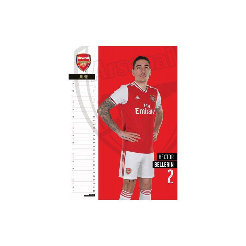 Nástenný kalendár Arsenal 2020