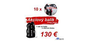 Akciový balík Cama Tauris 10 ks + vak na lopty s názvom klubu !