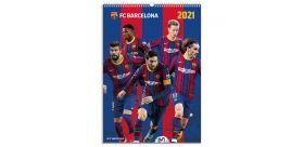 Nástenný kalendár FC Barcelona 2021