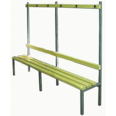 Šatňová lavička s vešiakmi BF - jednostranná - 2 m