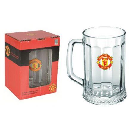 "Krígeľ na pivo Manchester United ""Logo"""