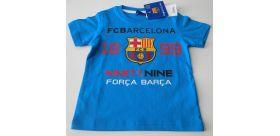 """Chlapčenské tričko Barcelona """"CC"""" tyrkysové"""