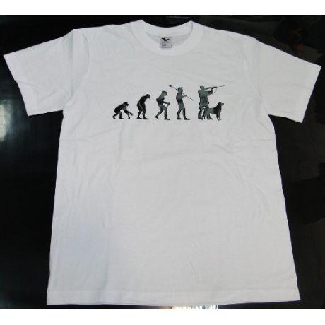 Tričko evolúcia - poľovník