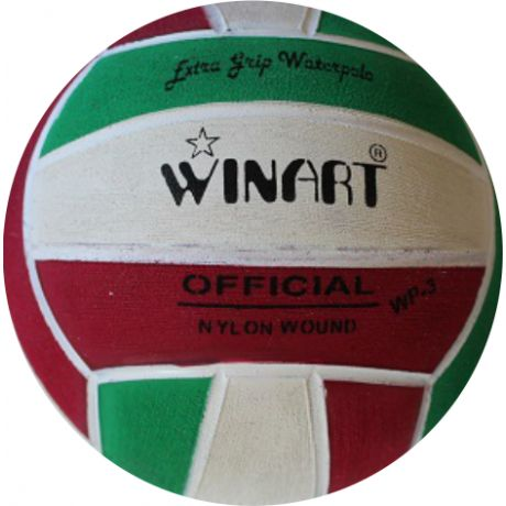 Winart water polo ball zelená/biela/červená